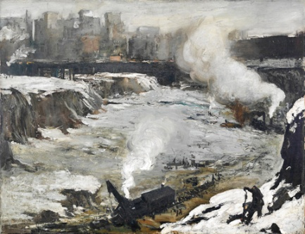 His paintings of the excavation of Penn Station are among his most recognized.