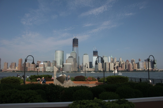 A view onto Manhattan from Jersey City